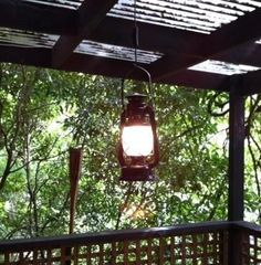 Convert old lantern to electric