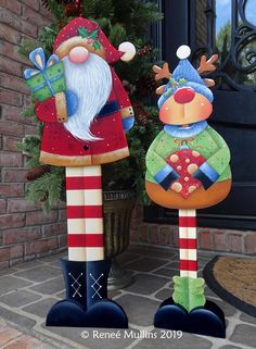 Christmas Yard Art, Christmas Arts And Crafts, Christmas Ornaments To Make, Outdoor Christmas Decorations, Christmas Signs, Christmas Projects, Holiday Crafts, Christmas Crafts, Xmas Frames