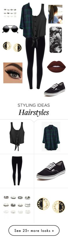 """""""Untitled #58"""" by arty15only on Polyvore featuring Vans, Madewell, Casetify, Lime Crime, Retrò and Chanel"""