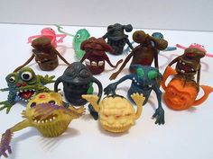 15 Vintage Oily Rubber Jiggler Uglies Monster Creatures Finger Puppet - use to buy these at the corner store