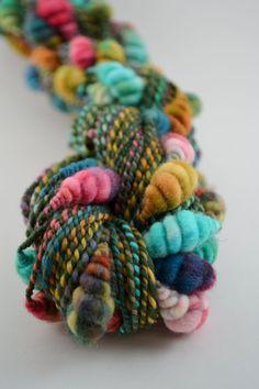 Olive Rose handspun beehive art yarn 95 Yards by bluecocoonyarn