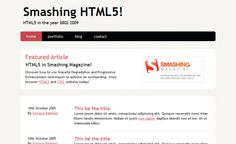15 Excellent Step by Step HTML5 Website Coding Tutorials