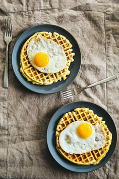 Brunch Recipes // Savory Sausage Waffles   The Effortless Chic