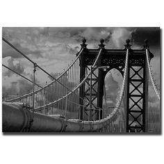 Yale Gurney 'Manhattan Bridge' Gallery-wrapped Art