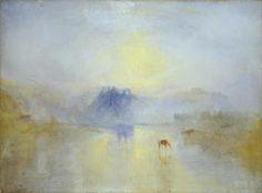 """Norham Castle, Sunrise Artist: J. M. W. Turner Year: c.1845 Type: Oil on canvas """