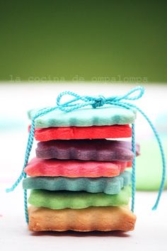 pretty colored cookies