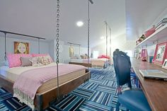 Rustic Hip Teen Bedroom at The Pioneer Woman's Ranch Home By Novogratz