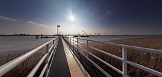 Pier in Lillo, Belgium by koos.fernhout