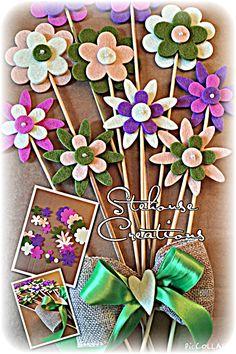 Fiori feltro primavera