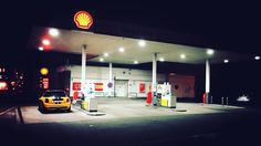 #night #road #gas station #eh