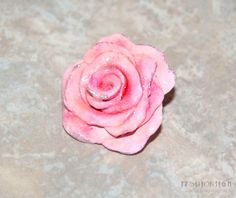 DIY rose ring out of polymer clay