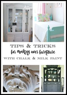 Over the years we have painted many, many pieces of furniture. Many with chalk paint, but some with regular latex paint. We've learned a lot about the best techniques to use to get the best possible results. We have also used most of the different brands of chalk/milk paint so read on to see the differences/results as well as our best tips.for using chalk paint and milk paint (and even regular latex paint) to paint furniture.