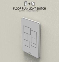 Un interruptor con el cual puedes seleccionar la habitación en la que quieres encender la luz (o apagarla)