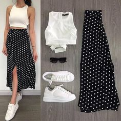 Trendy Outfits Sunday combination ❤ Which combination do you like best? You just call us . - you can find similar pins below. Summer Dress Outfits, Skirt Outfits, Spring Outfits, Cute Casual Outfits, Chic Outfits, Casual Dresses, Skirt Fashion, Fashion Dresses, Skirt And Sneakers