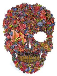 flower skull - Google Search