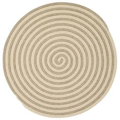 Decorate your floors in environmentally-friendly fashion with the Colonial Mills Woodland Round Indoor Area Rug . This round rug features a spiral stripe. Natural Area Rugs, Natural Rug, Natural Texture, Braided Wool Rug, Round Area Rugs, Wool Area Rugs, Wool Rugs, Throw Rugs, Rug Making