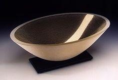 "Artifact Oval Bowl, 12"" by Stephen Schlanser, Glass Artwork"