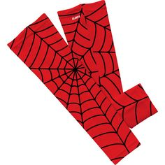 Red Spider Web Arm Sleeves