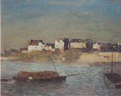 Odilon Redon Breton harbour 1879