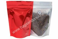 Red / Clear Coffee Bags