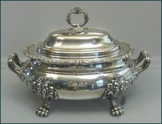 bohemian tureen | Georgian Sheffield Silver Plated Covered Tureen