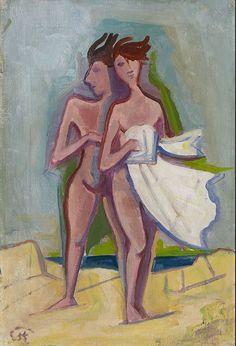 Karl Hofer, Karlsruhe (1878-1955) Badende (1946)