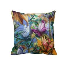 Colorful Butterflies MoJo Pillow by Creechers