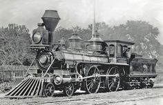 America locomotive, plated in silver, built in 1867 by Grant for the Universal Exposition in Paris, for the Chicago, Rock Island and Pacific Railroad
