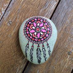 Dream Catcher, Hand painted stones, hand painted rock, stones, henna painted stones, mandala rocks, mandala stones