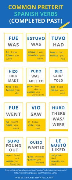 Common Spanish Verbs & Words You Need to Know