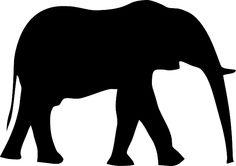silueta elefante - Buscar con Google
