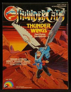"The Thunder Wings, a one-man flying machine from LJN's ""Thundercats"" toyline Cartoon Toys, Cartoon Tv Shows, Cartoon Art, Thundercats Toys, Thundercats 2011, Retro Toys, Vintage Toys, Midtown Comics, Space Ghost"