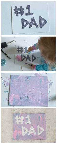 An easy toddler friendly Father's Day DIY art craft! You are in the right place about DIY Father's Day videos Here we offer you the most beautiful pictures about the DIY Father's Day canvas you are lo Diy Father's Day Crafts, Diy Father's Day Gifts Easy, Father's Day Diy, Baby Crafts, Diy Gifts, Arts And Crafts, Fathers Day Art, Fathers Day Presents, Toddler Art