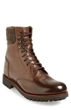 Free shipping and returns on Grenson 'Mason' Plain Toe Boot (Men) at Nordstrom.com. A rugged lug sole grounds a military-inspired boot trimmed with wool for a rustic air.