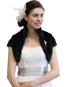 7 Day Bridal Wrap Navy Blue Faux Fur Stole Shrug Wedding Shawl Cape