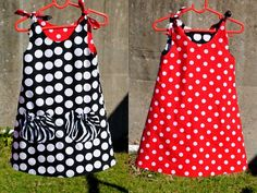 Image detail for -Girls Dress Pattern. PDF Sewing Pattern for Eva Dress, Reversible Tie ...