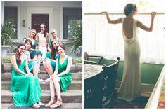 Community Garden Wedding by Alisa Lewis Event Design | Apple Brides low back wedding dress