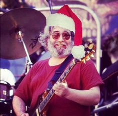Have a Jerry Christmas! Jerry Garcia from the Grateful Dead