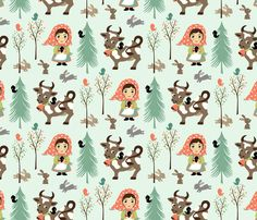 Wee Are the World: Nina fabric by sheri_mcculley on Spoonflower - custom fabric