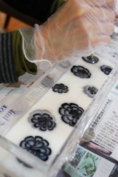 cold-process soap - flowers