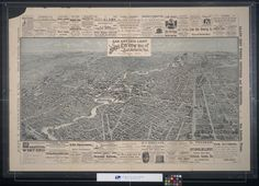 Bird's eye view map of San Antonio, Texas 1891, San Antonio Light.