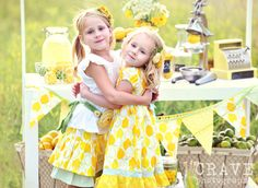 LOVE this...... a themed Lemonade session with two adorable little girls!