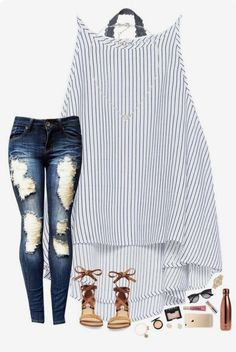 Love this outfit, but I would like the jeans less destroyed