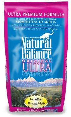 $24.17-$15.49 Natural Balance Original Ultra Premium Formula Cat Food, 6-Pound Bag - Dick Van Patten's Natural Balance Original Ultra-Premium Dry Cat Food is made for kittens and adults, complete and balanced for all breeds and life stages. Natural Balance has taken the time to listen to you, the cat owner, the breeder, nutritionist, trainer, handler, kennel-owner and veterinarian. The result is  ...
