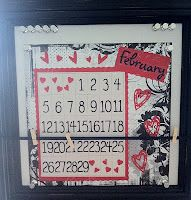 #scrapbooking Creative Memories display board - used as a calendar holder... calendar made with scrapbooking materials (12x12)