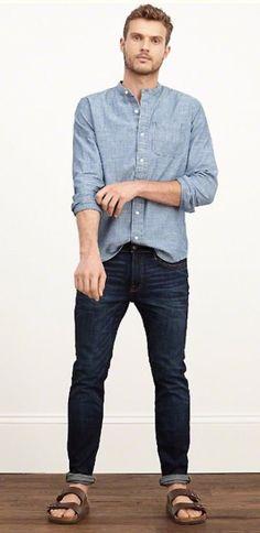 This is a perfect example for how men should style Birkenstocks!  http://www.englinsfinefootwear.com/mens-birkenstock/