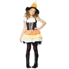 KANDY KORN Witch Child Costume Cute Halloween Girls Outfit Candy ...