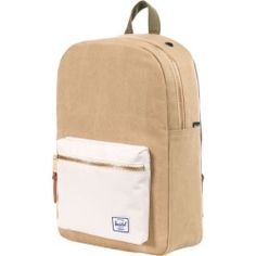ec7a4337d9a Herschel Supply Settlement Mid Volume Canvas Backpack Washed Khaki Bone  Washed Army