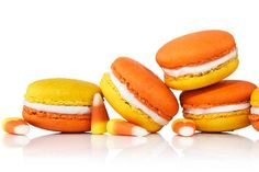 Candy Corn Macarons | 20 Edible Delights For Candy Corn Lovers