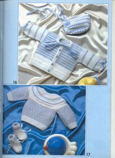 Мобильный LiveInternet Muestras y Motivos Especial Bebes 5 Knitting For Kids, Baby Knitting, Crochet Baby, Knit Crochet, Baby Patterns, Knitting Patterns, Crochet Patterns, Knitted Baby Clothes, Knitted Afghans